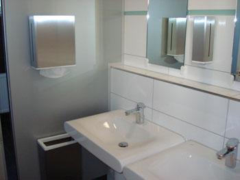 Sanitäranlage Damen WC im Baukompetenzzentrum Ruhr