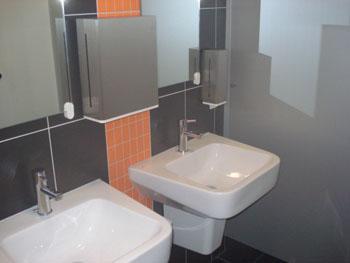 Sanitäranlage im Baukompetenzzentrum Ruhr